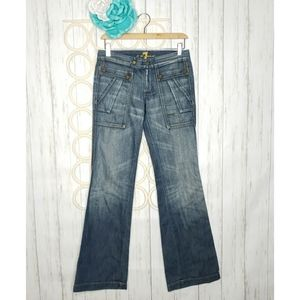 7 For All Mankind Wide Leg Jeans Size 26